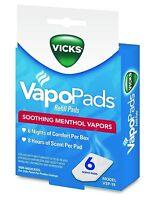 Vicks Vapopads Refill Pads Vsp-19 Menthol Vapor 6ct Box