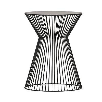 Beistelltisch Couchtisch SUUS Kaffeetisch Design Tisch Metall schwarz Ø 35 cm
