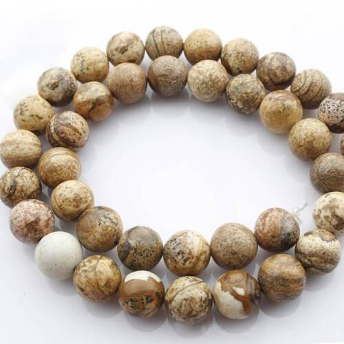 "Charms 15/"" Naturel photo Pierre Gemstone Round Spacer Artisanat Perles 4//6//8//10mm"