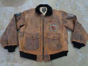 Militar Ejército Colección G1 Para Chaqueta De Cuero Avirex wYPqXY6a