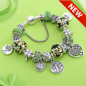 Tree-of-Life-Charm-Bracelet-made-with-Antique-Silver-Color-Heart-Bangles