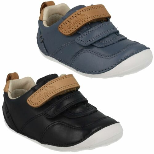 BOYS TODDLER CLARKS TINY ASPIRE HOOK /& LOOP CASUAL FIRST WALKING SHOES SIZE