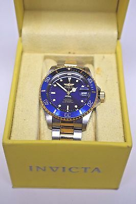 Invicta 8928OB Men's Two Tone Automatic Coin Edge Bezel Watch Blue - Free Ship!
