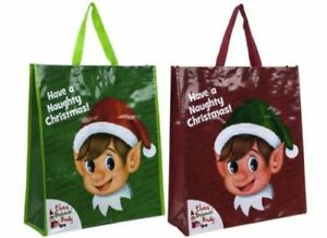 Elf Tote Bag Shopping Bag Christmas X-mas Gift Bag For Life Elf Behaving Badly
