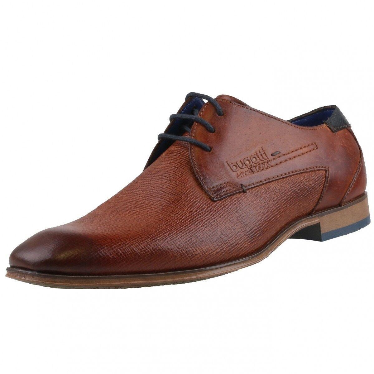 Nuevo Bugatti zapatos caballero Business-Zapatos Cuero zapatos schnürschuhe zapato bajo