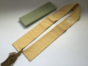 Japanese-Buddhist-Shoulder-Strap-Vtg-Monk-Dress-Shrine-Temple-Crane-Crest-R209