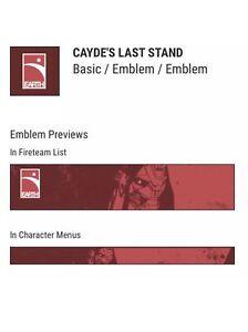 Destiny 2 cayde die letzte Schlacht Emblem Code In Hand verlassenen Bungie cayde - 6 Rip