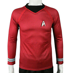 Star Trek Into Darkness Star Fleet Command Team Cos Tunic Shirt Red Uniform Sale