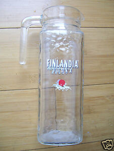 Details about Vintage Finlandia Vodka Glass Martini Water Pitcher 9 1/2  inches Tall