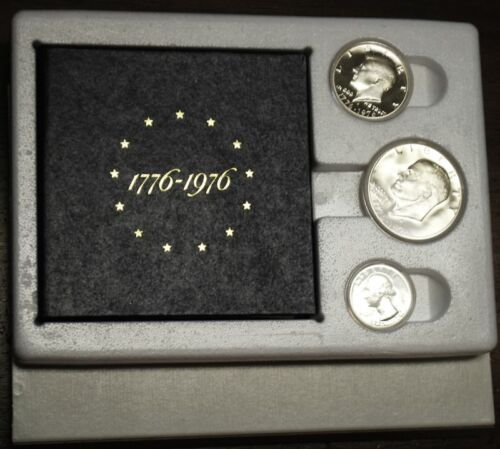 With the original styrofoam box /& cover Hard to Find 1976 US Silver Proof Set
