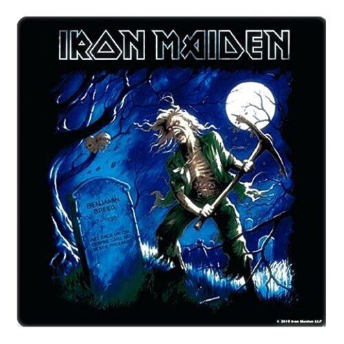 ro coaster Iron Maiden Benjamin Breeg cork backed drinks mat