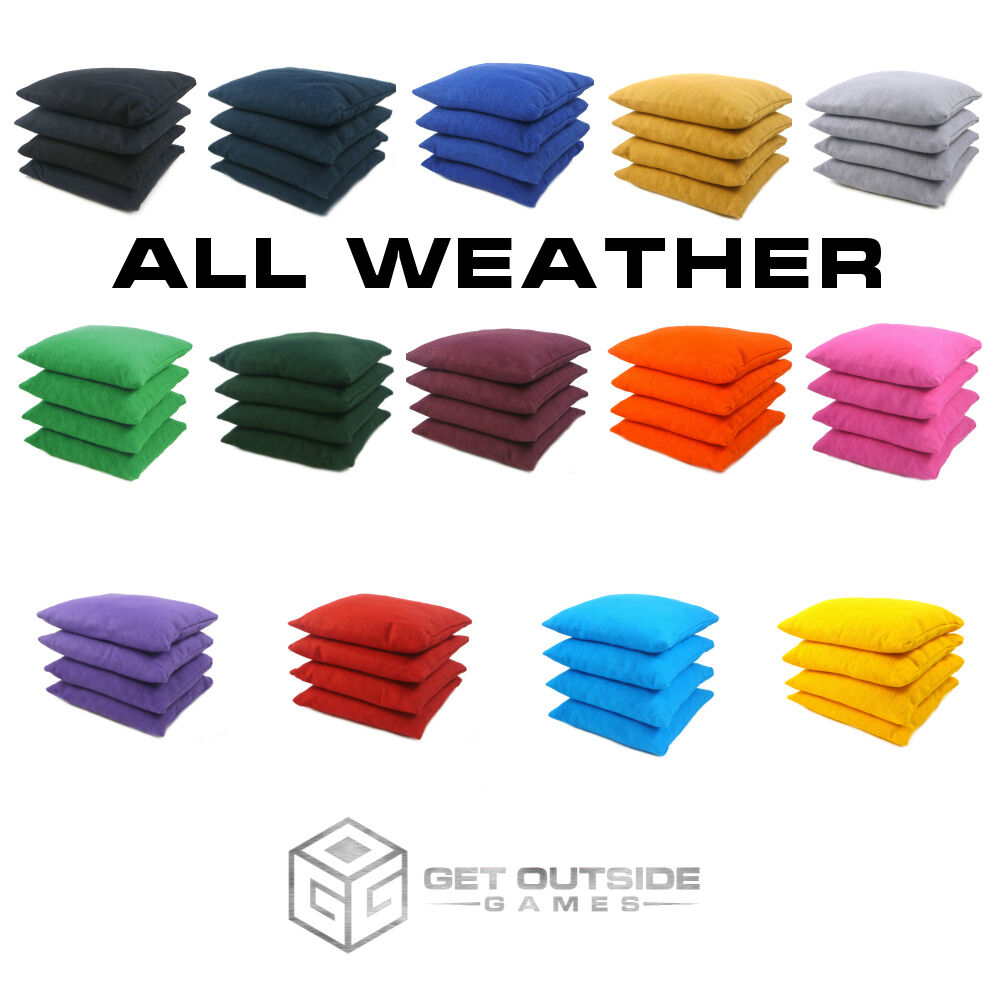 Set of 8 Classic Series Cornhole Bags -All Weather-By Get Outside Games-Free S H