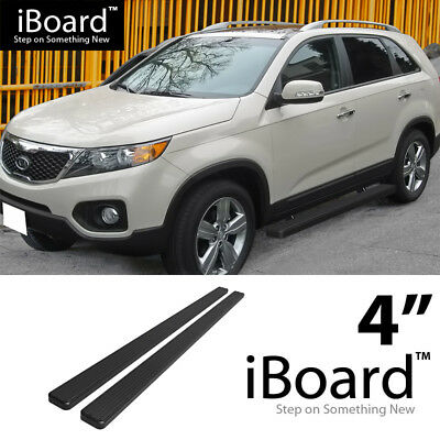 Running Board Side Step Nerf Bars 4in Silver Fit KIA Sorento 03-10