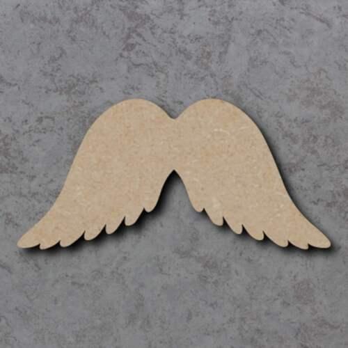 Gran forma de artesanía de madera MDF Alas de Ángel Placa Sin Pintar 20,30 40 Cm