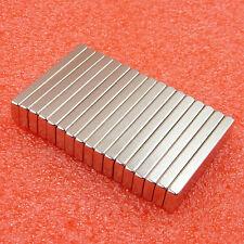5pcs N52 Strong Block Bar Fridge Big Magnets Rare Earth Neodymium 40x10x4 Mm
