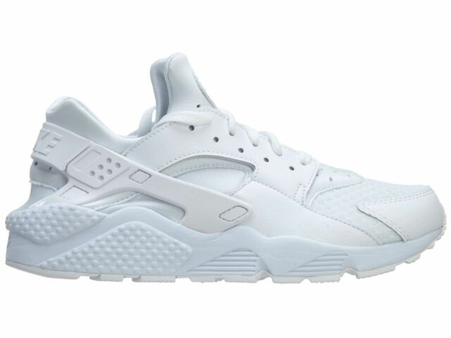 sale retailer 70ba9 dc411 Nike Air Huarache Mens 318429-111 White Pure Platinum Running Shoes Size 6  for sale online   eBay