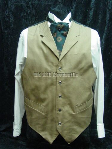 Mens Frontier Classics TAN Sacramento Old West Victorian style vest S-3X