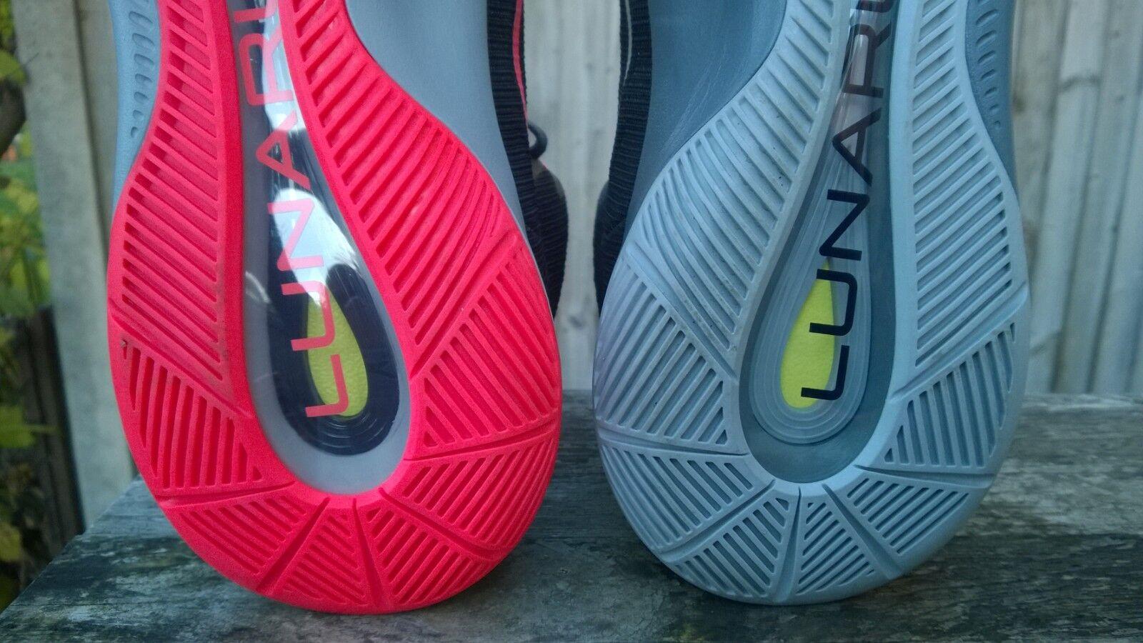 NIKE Hyper Quickness Lunarlon Lunarlon Lunarlon Scarpe da Basket Air Scarpe Da Ginnastica Nero Rosa Grigio UK10 | Nuovo  | Offerta Speciale  | Uomini/Donna Scarpa  0243c7