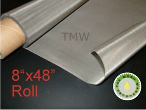 8 Quot X48 Quot Roll 25 Micron Stainless Steel 316 Ss Mesh Cloth
