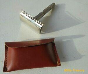 Ancien-Mini-RASOIR-de-VOYAGE-demontable-dans-sa-pochette