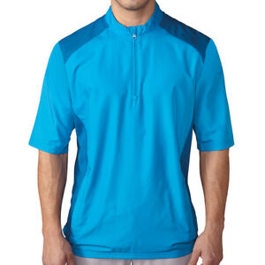 Adidas Golf Men's Club Short-Sleeve Windshirt, Brand New