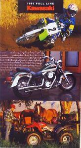 OEM KAWASAKI 1997 Full Line Brochure Pamphlet Motorcycle ATV