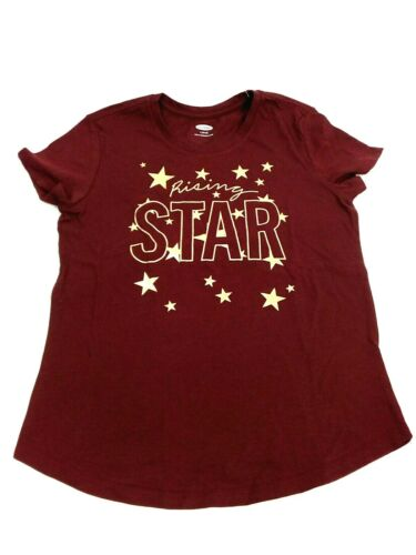 10-12 Old Navy 100/% Cotton Graphic Print Burgundy T-Shirt for Girls Size L