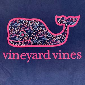 Vineyard-Vines-Womens-Profile-Whale-Fill-Logo-L-S-Pocket-Navy-T-shirt-Sz-M-NEW