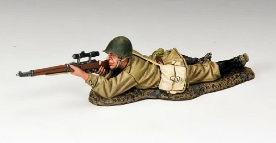 KING & COUNTRY FALL OF BERLIN RA042 RUSSIAN INFANTRY PRONE SNIPER MIB