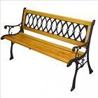 Panchina in ghisa e legno Eldorado, dimensioni 126x52x73 cm