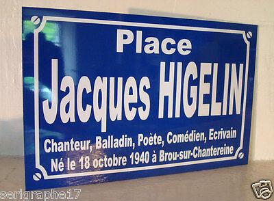 Place MICK JAGGER rolling stones  plaque de rue hommage collection série limitée