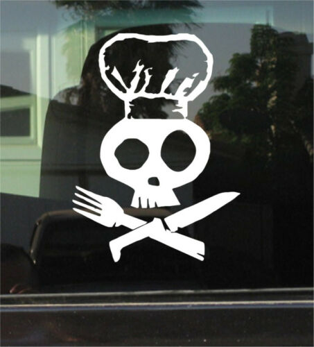 STICKER PIRATE CHEF COOK 8 INCH VINYL DECAL