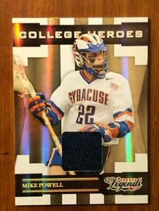 Mikey Powell - Syracuse Lacrosse - College Heroes - Material - card