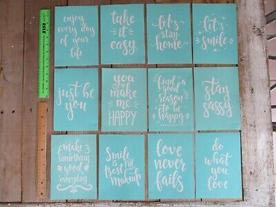 Home Decor Hello Word Layering Stencils for Painting DIY Washable Adhesive Silkscreen Chalk Transfer 5X7 inch Paints Tranfer