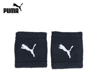 Puma-2xBlack-Sweat-Wrist-Band-Soccer-Tennis-Sports-goods-New