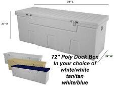 "72"" Poly Boat Dock Deck Pool Outdoor Patio Storage Box"