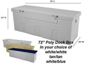 image is loading 72 poly boat dock deck pool outdoor patio - Patio Storage Box