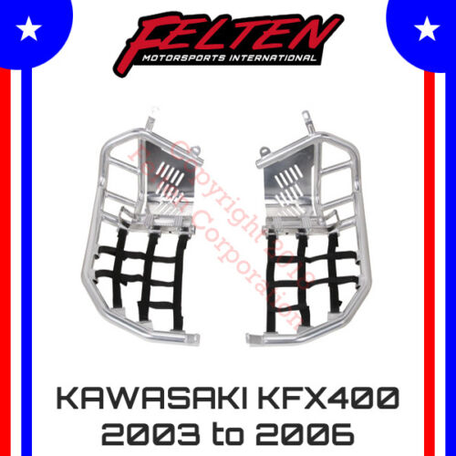 Kawasaki KFX400 Foot Pegs Nerf Bars w/ Heel Guards KFX 400 KSF Kawi Heal 03-06