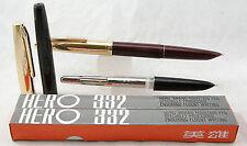 Hero 332 fountain pen.,. 1 pc- Iridium nib, Golden Cap ,  @ very low price