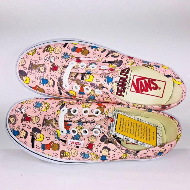 e351459ce11 VANS Peanuts Authentic Pink Dance Party Multi Color Skate Sneaker Mens Size  3.5