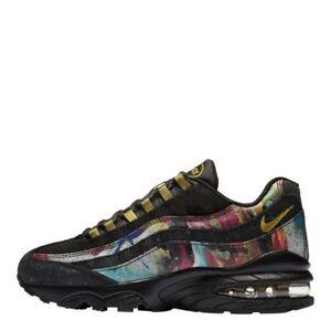 on sale 0de4c 54855 AT6158-001} Nike Big Kids' Air Max 95 Shoes: Black/Gold/Blue *NEW ...