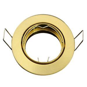 Metall Einbaustrahler Messing Gold glänzend schwenkbar ideal für LED