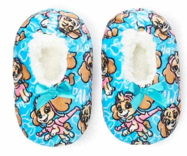 Official Shimmer /& Shine Girls Kids slipper socks Size  9-12