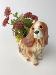 VINTAGE NAPCO NAPCOWARE COCKER SPANIEL DOG PLANTER