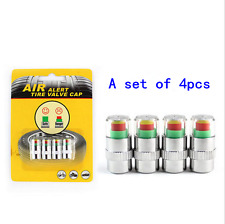 4pcs Auto Tire Pressure Monitor Valve Stem Caps Sensor Indicator Eye Alert