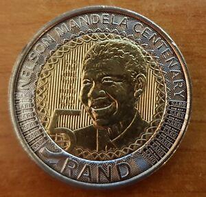 South-Africa-2018-R5-Nelson-Mandela-100th-Birthday-Anniversary-UNC-5-Rand-Coin