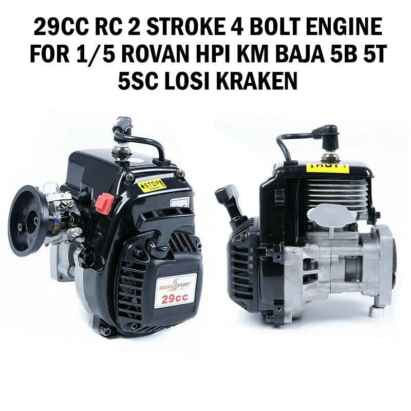 29CC RC 2 tempi 4 Bullone motore motore motore per 1 5 ROVAN HPI KM Baja 5B 5T 5SC LOSI Kraken K 9f9612