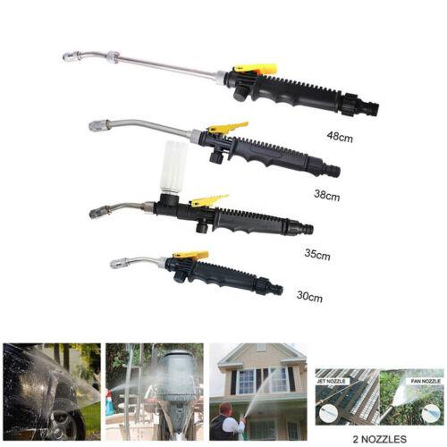 30-48cm Hochdruck Wasserpistole Düse Sprühlanze für Gartenschlauch Wasserlanze