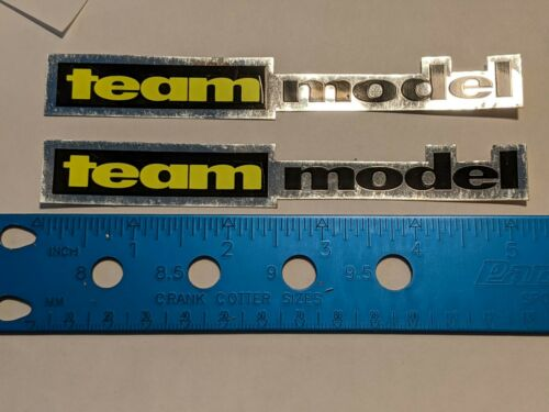 NOS 1993 Dyno SLAMMER TEAM MODEL frame decal  chrome  old school bmx