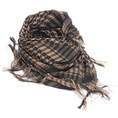 AM/_ Lightweight Plaid Tassel Arab Desert Shemagh KeffIyeh Scarf Wrap Pashmina Un